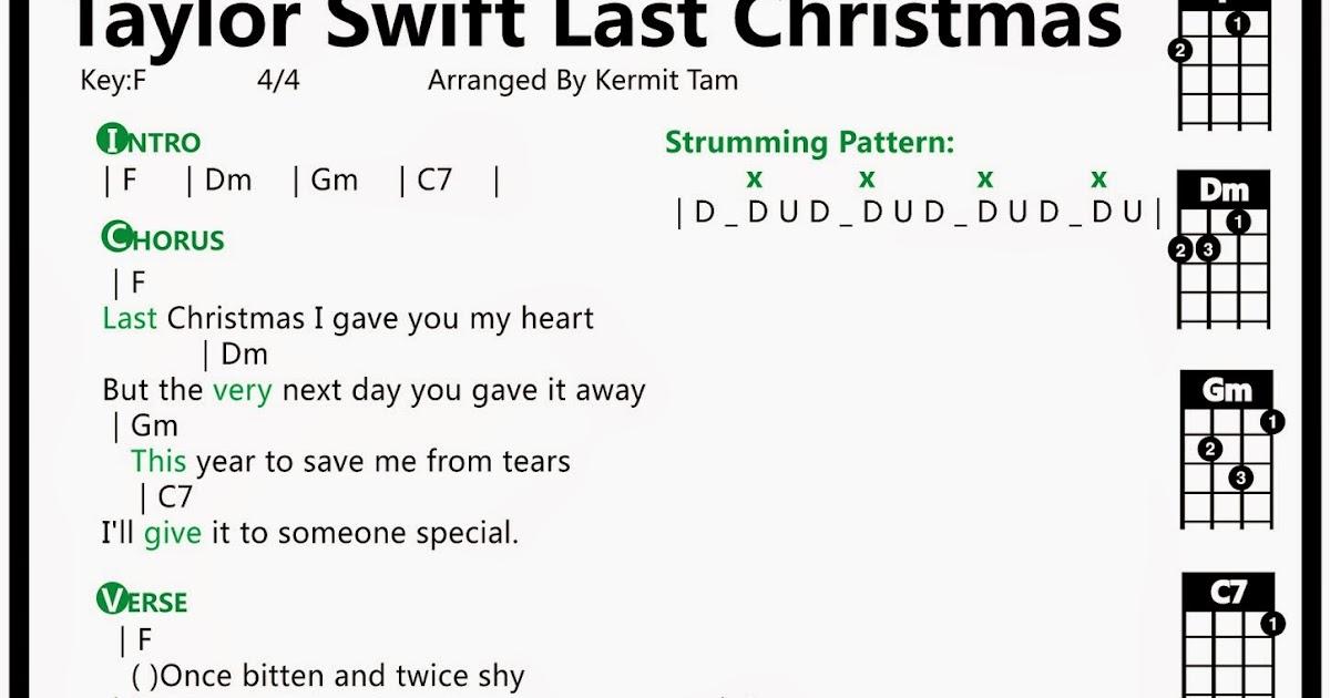Last Christmas Chords.圍威喂ukulele Taylor Swift Last Christmas Ukulele譜
