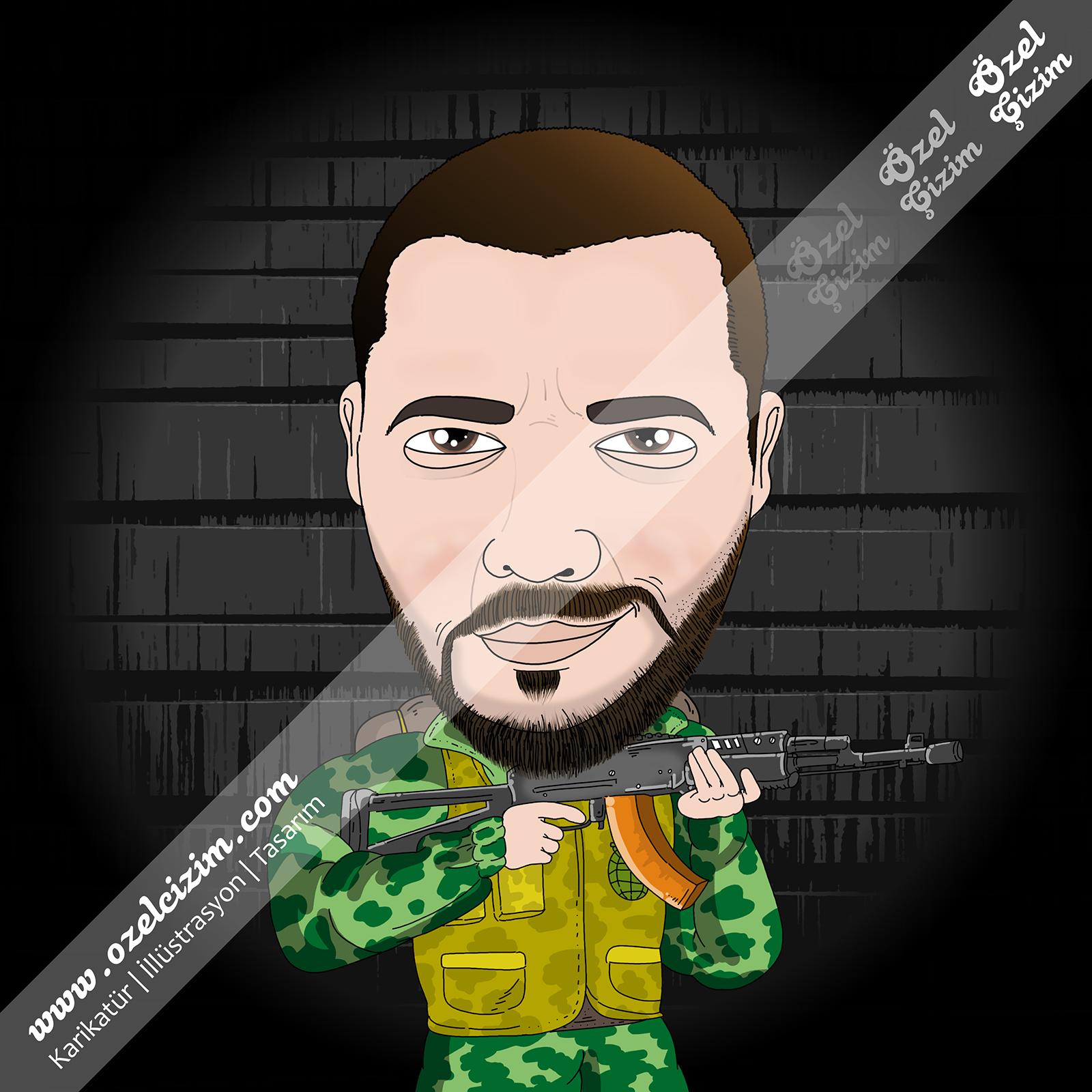 asker hediyesi, askere hediye, sevgiliye hediye, karikatür, komik hediye, steam profil, özel profil fotoğrafı, asker karikatür, cs go karikatür, asker sevgiliye hediye, karikatür portre, Özel Çizim,