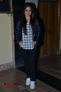 Actress Nanina Ganguly Stills in Black Tights with Vangaveeti Movie Team at Devi Theater  0046.JPG