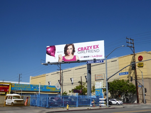 Crazy Ex-Girlfriend series launch billboard