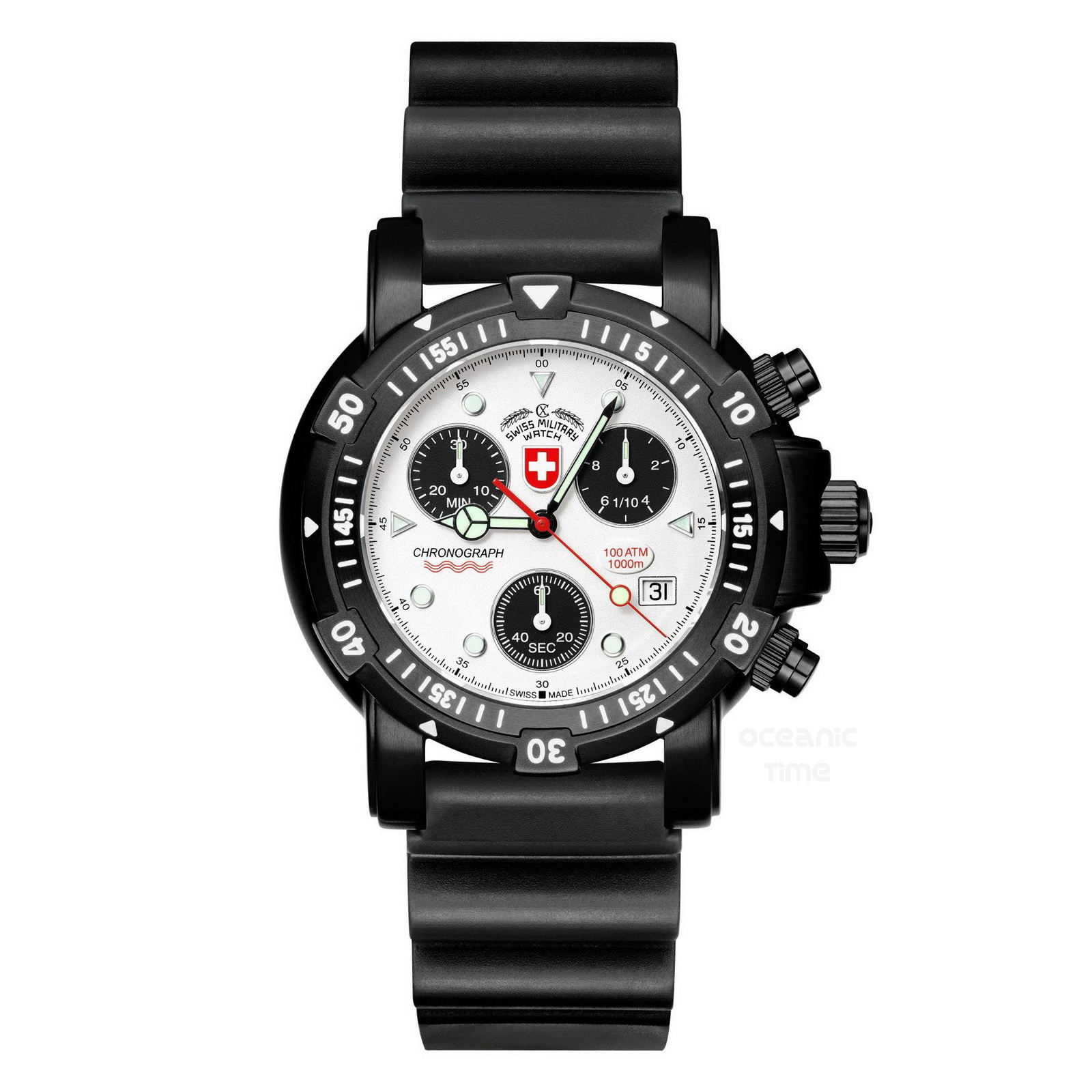 67efbe688d8 Wenger Swiss Military Watch 79150 Swiss Army Military: CX Swiss Military  Watch SEAWOLF I Scuba NERO