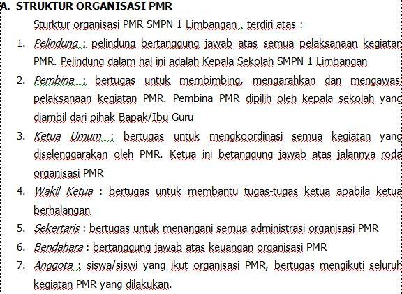 Contoh Program Kerja Organisasi PMR Sekolah