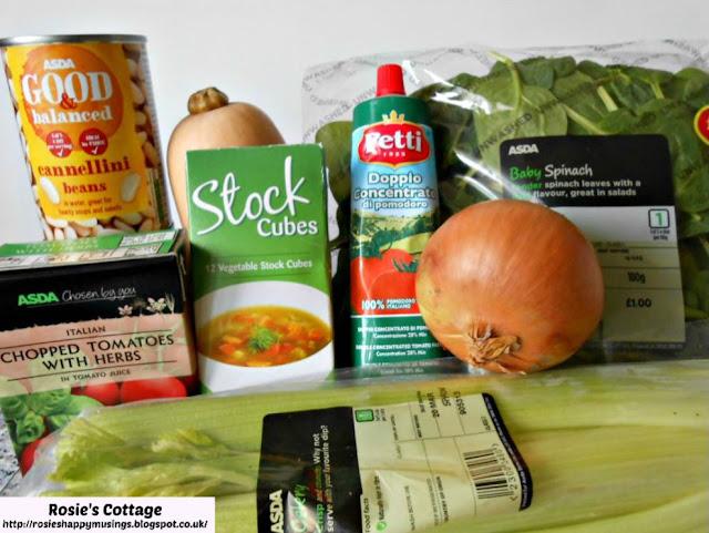 Winter Vegetable Minestrone Soup Ingredients