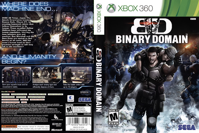 Capa Binary Domain Xbox 360