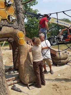 adams nature preserve playground installation