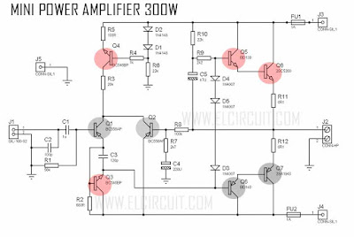 Mini Strong power amplifier circuit diagram