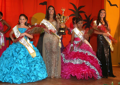 Queens and princesses of the La Ceiba Gran Carnaval 2013
