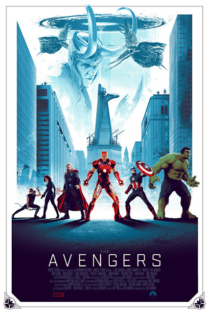 The Avengers Movie Regular Edition Screen Print by Matt Ferguson & Grey Matter Art