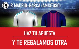 sportium apuesta regalo ganes o pierdas Real Madrid vs Barcelona 30 julio