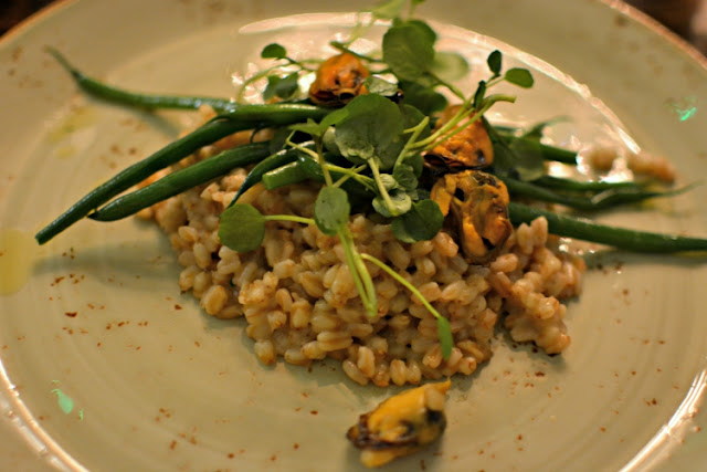 Pearl barley with mussels at Crocker's Folly London