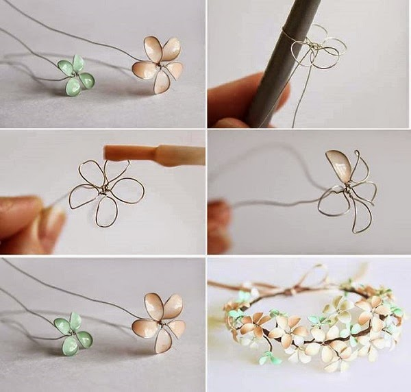 DIY: Make Spring Flower with Wire and Nail Polish