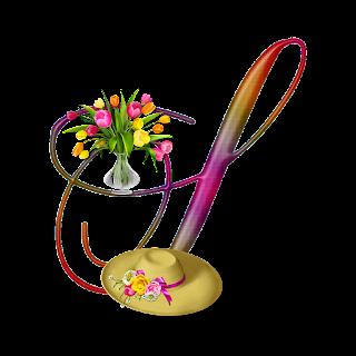 Abecedario de Colores con Tulipanes. Alphabet in Pastel Colors with Tulips.