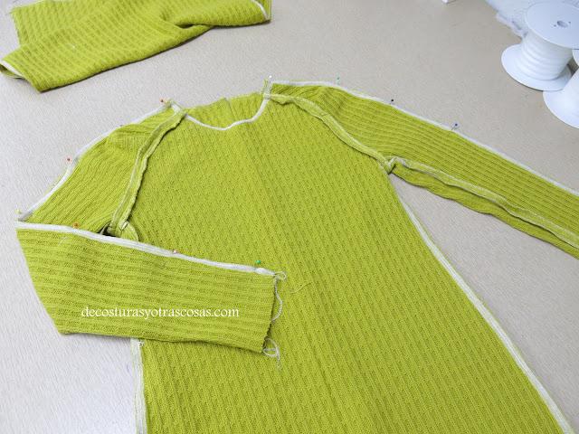 mangas con costura desde el hombro