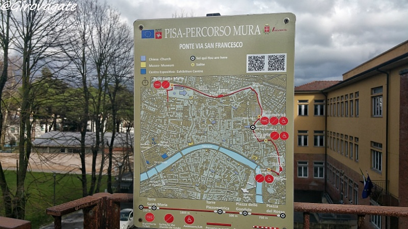 camminamento mura di Pisa