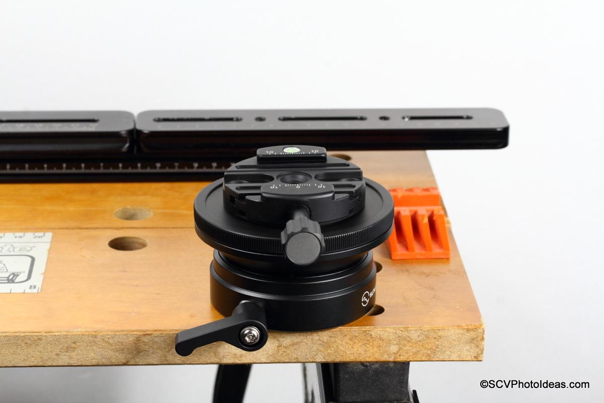 Sunwayfoto DYH-90 bolted on workbench