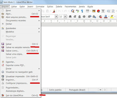 Menu LibreOffice