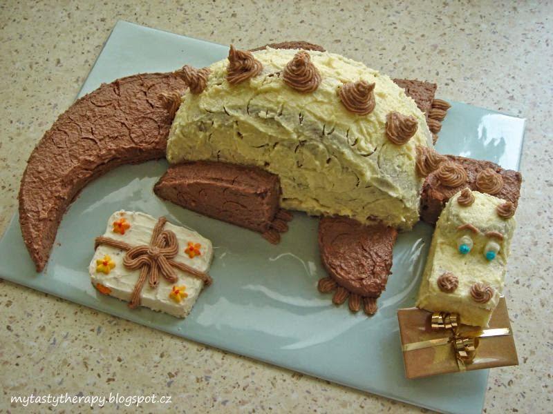 3D krémový dort ve tvaru draka