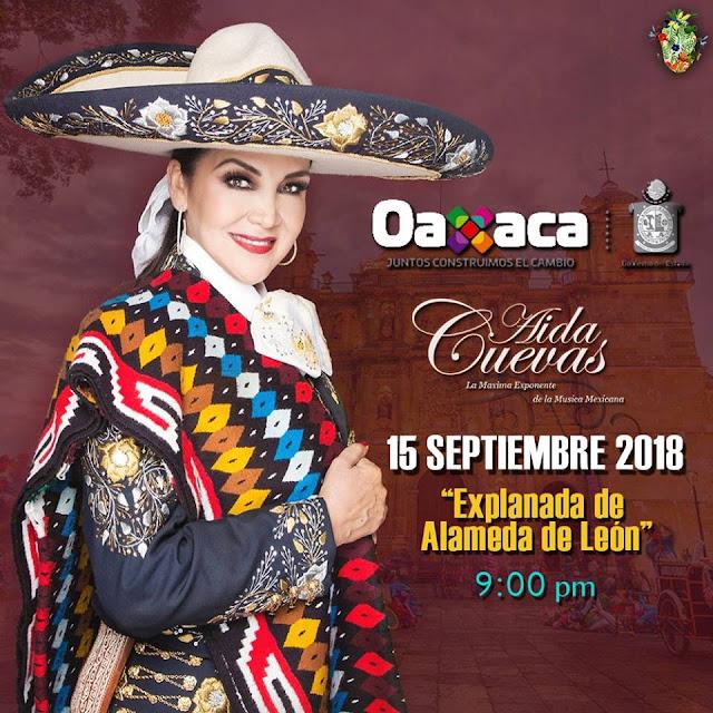 """Actividades 2018 de la noche del """"15 de Septiembre en Oaxaca"""""""