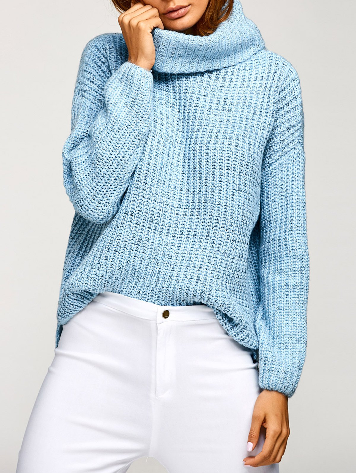 Cowl Neck Pullover Oversized Sweater