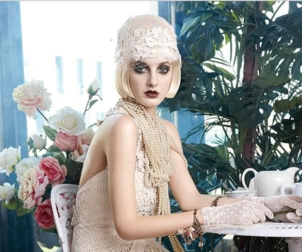 1c6f296a2 Grande Gatsby  coleção vestidos de noiva estilo Anos 20 - Noiva com ...