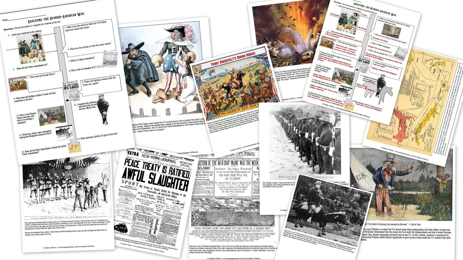 Spanish American War Worksheet Worksheets Tutsstar