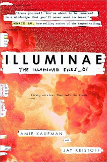 Illuminae by Kaufman and Kristoff book cover