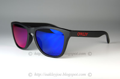 7ee7ea6393 Custom Frogskins matte black red icon + positive red iridium  220 lens pre  coated with Oakley hydrophobic nano solution
