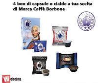 Logo Vinci gratis una fornitura di 4 Box di Cialde o Capsule di marca Borbone a tua scelta