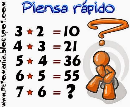 Reto Matematico 24 Piensa Rapido Retos Matematicos