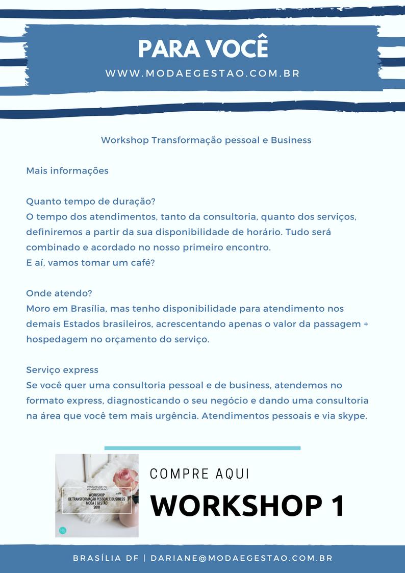 Serviços Pessoais ou Empresariais Moda e Gestão 2018