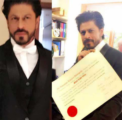 Shah Rukh Khan, Doctor Degree, Shah Rukh Khan Doctor Degree, Edinburgh University, University of Edinburgh, Honoris Causa