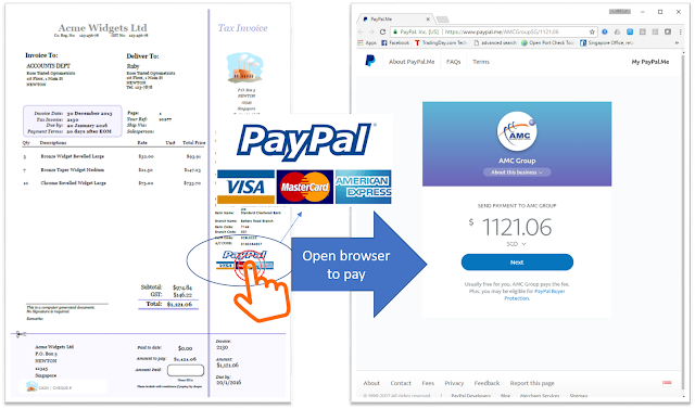 Click-to-PayPal Invoice