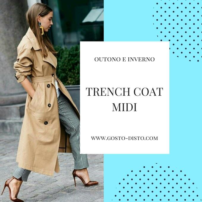 Trench coat midi o trench coat do outono inverno