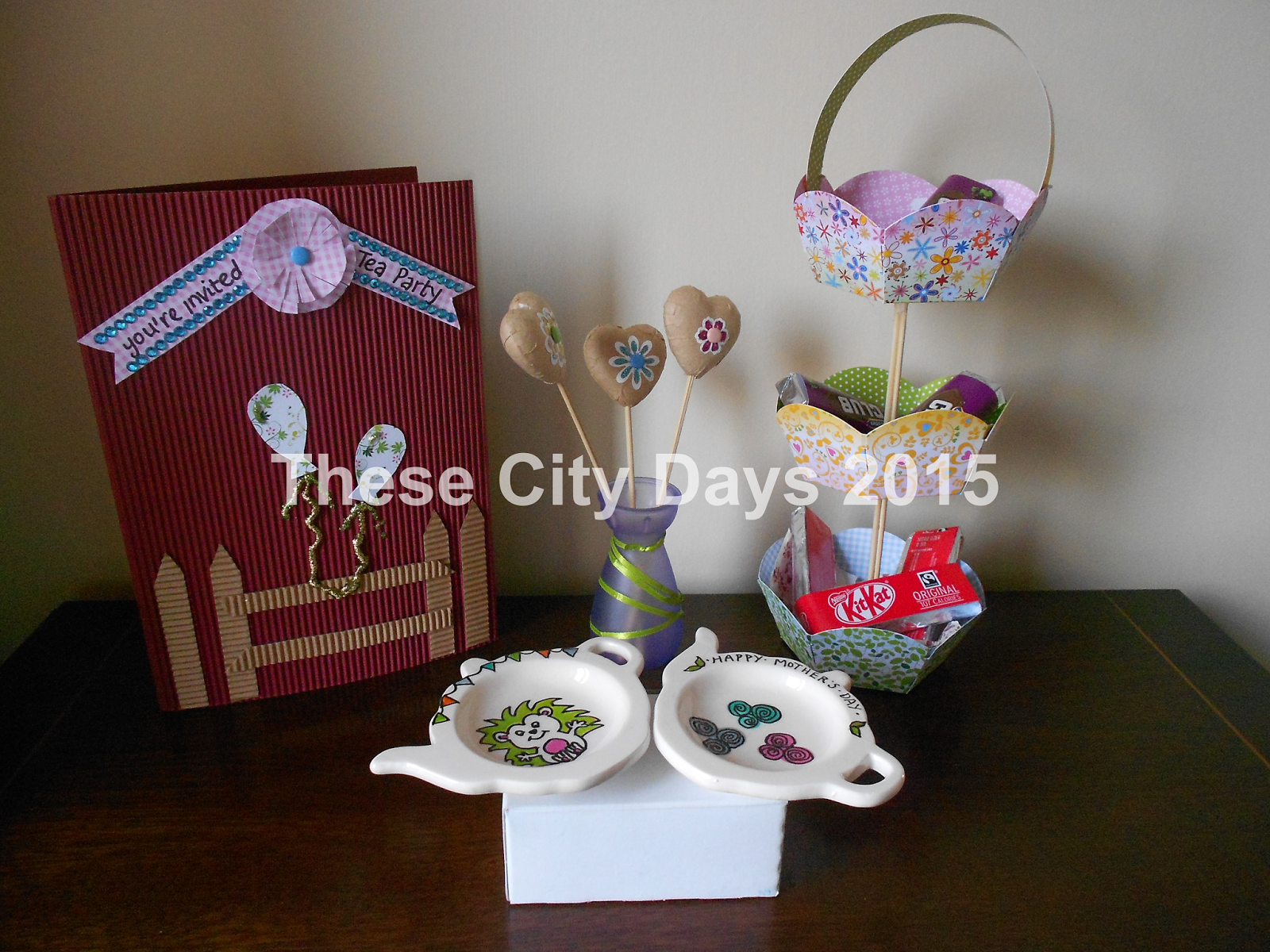 These City Days Spring Tea Party Craft Ideas