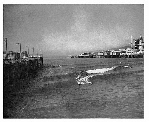 26 September 1940 worldwartwo.filminspector.com Venice Pier Los Angeles California surfers
