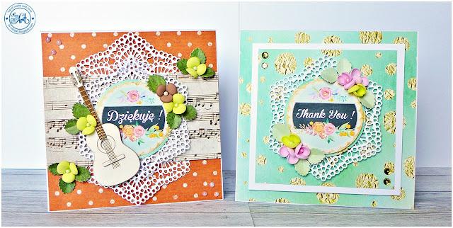 Kartki z podziękowaniem / Thank you cards – DT Craft Passion