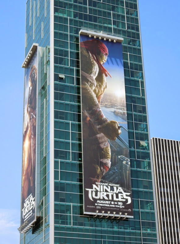 Giant Raphael Teenage Mutant Ninja Turtles billboard