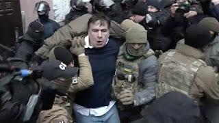 arrested Georgian ex-president