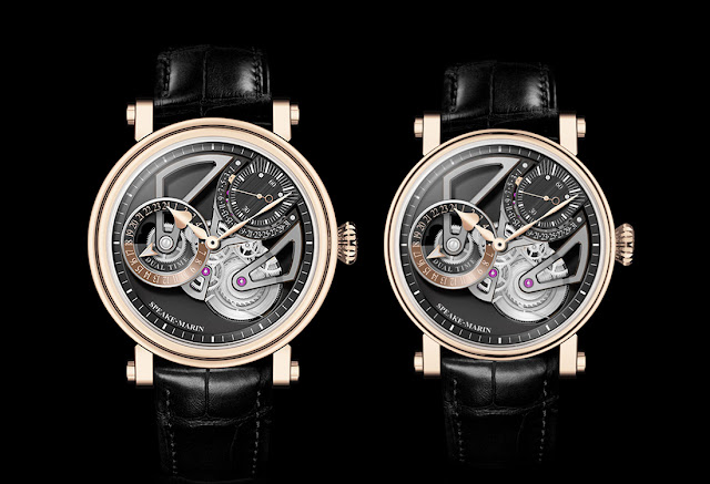 42mm and 38mm versions of the Speake-Marin One & Two Openworked Dual Time