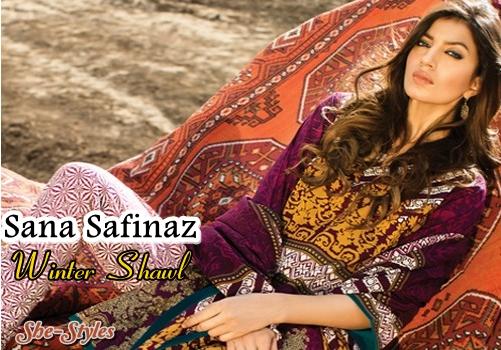 af8e6cd38c Sana Safinaz Winter Shawl 2015-2016 Collection with Prices | Sana Safinaz  Shawls'16 | She-Styles | Pakistani Designer Dresses - Fashion Weeks - Lawn  ...
