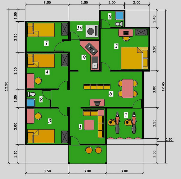 Denah rumah minimalis 3 kamar tidur gambar denah rumah minimalis