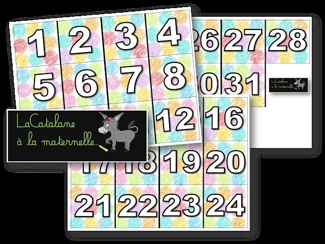 Etiquettes nombres (LaCatalane)