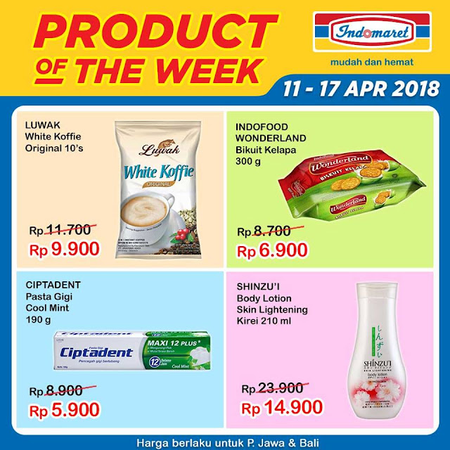 Promo Product Of The Week periode 11 - 17 April 2018