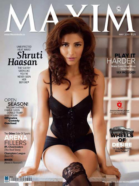 Shruti Hassan's Hot Photo Shoot on the cover of Maxim