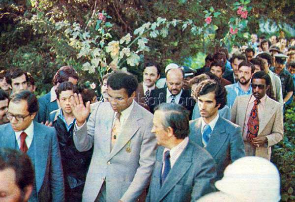 Muhammed Ali Türkiye' de, Necmeddin Erbakan Hoca ile 1976 yılında Ayasofya da