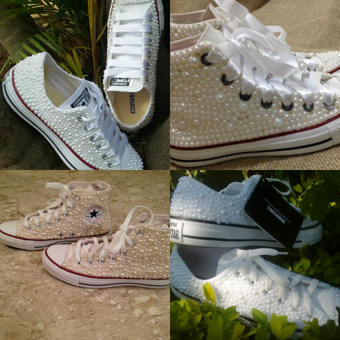 Customizando sapato velho, customizar sapato com meia pérola