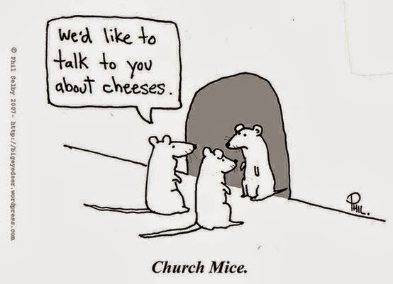 Funny we'd like to talk to you about cheeses church mice cartoon joke picture