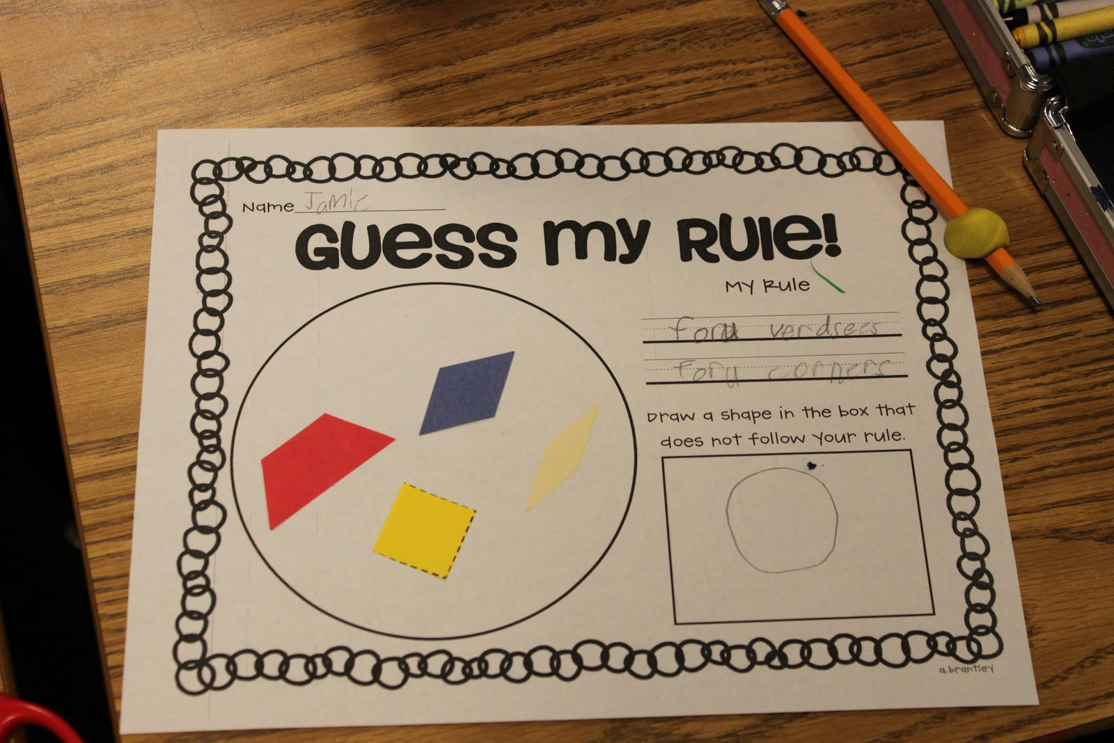 Shapes Worksheet 1st Grade