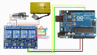 Kontrol Dinamo/Motor DC Menggunakan Arduino + Relay untuk Mainan Mobil RC