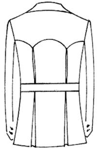 Варианты моделирования спинки пиджака